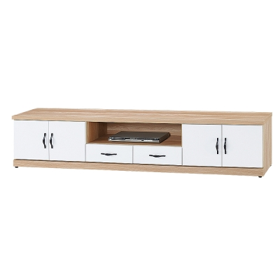 Boden-巴特萊7.1尺電視櫃/長櫃(兩色可選)-212x40x48cm