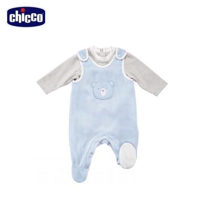 chicco冰雪小熊剪毛絨背心褲套裝 (3個月-12個月)