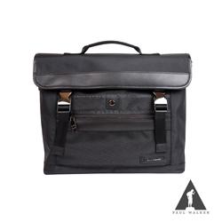 Paul Walker 新時尚系列掀蓋插釦手提斜背包 黑迷彩