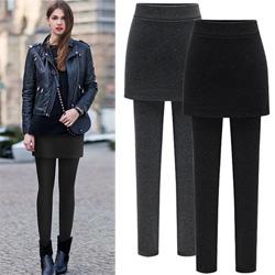時尚保暖假兩件長褲