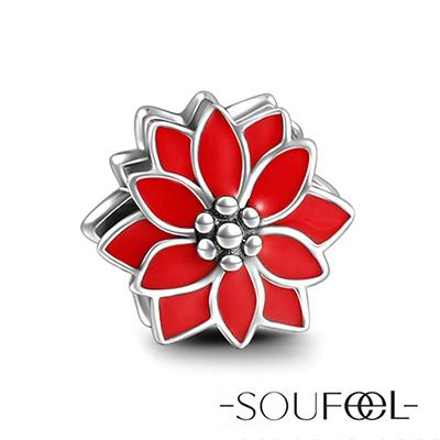 SOUFEEL索菲爾 925純銀珠飾 聖誕花 串珠