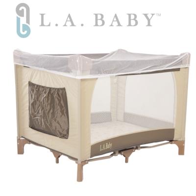 美國 L.A. Baby 攜帶式遊戲床(咖啡卡其色)
