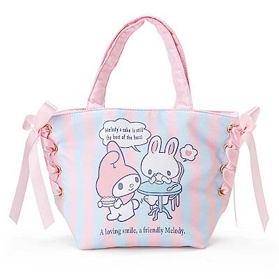 Sanrio 美樂蒂甜蜜利茲姆系列緞帶裝飾防潑水迷你提袋