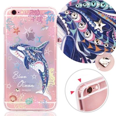 KnowStar APPLE iPhone6s Plus 奧地利水晶防摔手機鑽殼-藍色海洋