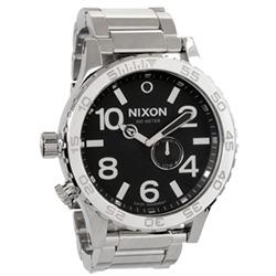 NIXON The 51-30 TIDE 超越潛能運動腕錶-鋼帶-亮銀黑/51mm