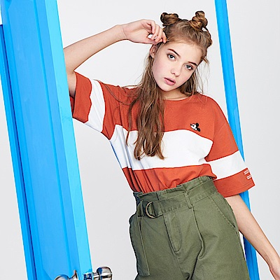 CACO-米奇款寬條紋上衣(兩色)-女【PDI001】