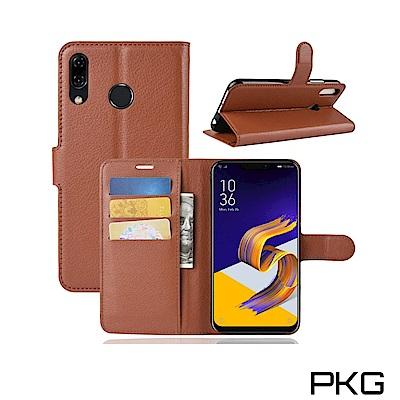 PKG ASUS Zenfone5 2018 側翻式皮套-經典系列-棕