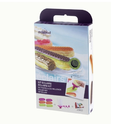 法國mastrad 6入閃電泡芙烤模(綠、紅、紫) (8H)