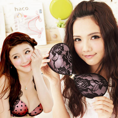 I-shi-惹火爆乳-lace布面矽膠隱形胸罩A-C-任選2件
