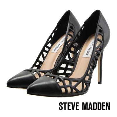 STEVE-MADDEN-鏤空尖頭高跟鞋-性感黑