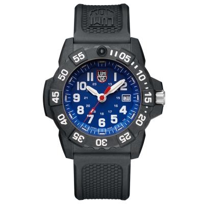 LUMINOX 雷明時NAVY SEAL 3500全新海豹2代系列腕錶-藍x白時標/45m