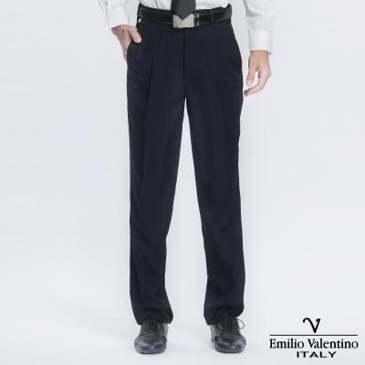 Emilio Valentino 范倫提諾超柔打摺西褲-深藍