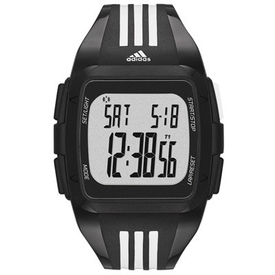 adidas-Performance-方型大面板電子腕錶-黑框三線白-45mm