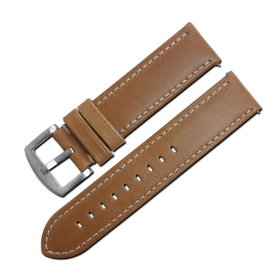 LICORNE 力抗 各種品牌通用復刻真皮錶帶-卡其/22mm