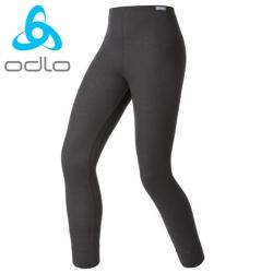 【瑞士 ODLO】effect 兒童.女頂極機能型銀離子保暖長褲.刷毛褲/黑