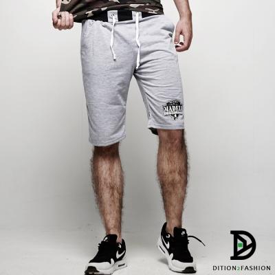DITION 高回購MD盾牌布章美式抽繩棉褲 健身 拳擊