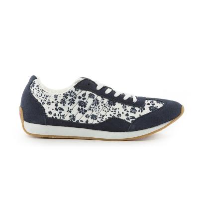 TOP GIRL-古著風復古慢跑休閒鞋-金屬藍