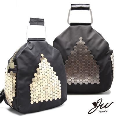 JW-後背包-真皮梅杜莎晶亮牛皮配尼龍後背包-共二
