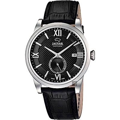 JAGUAR積架 Acamar 小秒針紳士手錶-黑/42.5mm