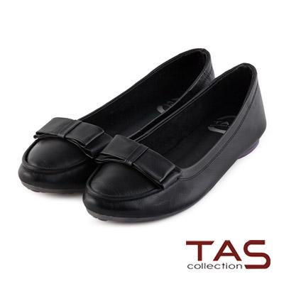 TAS-太妃Q系列-層次蝴蝶結裝飾牛皮娃娃鞋-百搭