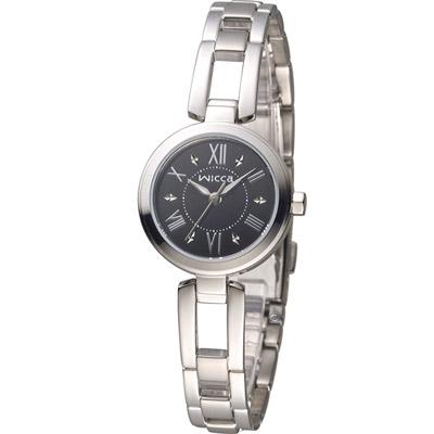 CITIZEN WICCA 英倫靚麗時尚腕錶(BG3-911-51)-黑/24mm