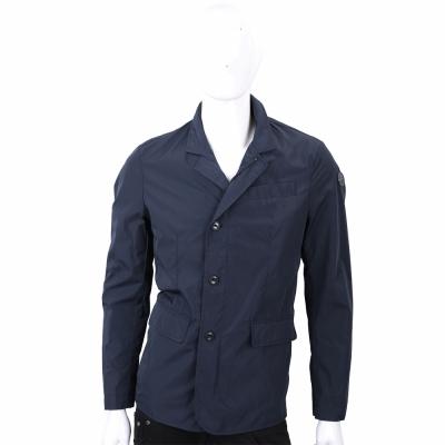 TRUSSARDI 藍色西裝式剪裁防風夾克