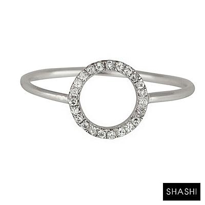 SHASHI 紐約品牌 Circle Pave 鑲鑽圓滿圈圈戒指 925純銀