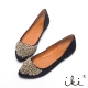 iki2-華麗鑽飾舒適好走平底鞋 沉穩黑