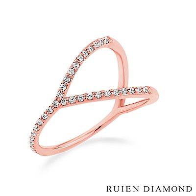 RUIEN DIAMOND 韓國輕珠寶 飾品 配件14K 玫瑰金 戒指 J5940