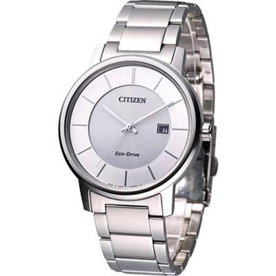 CITIZEN 星辰 高雅紳士光動能腕錶(BM6750-59A)-銀/40mm