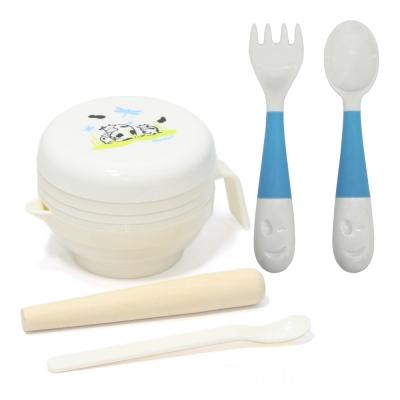 【貝喜力克】七件式寶寶食物料理器+乳牛叉匙組