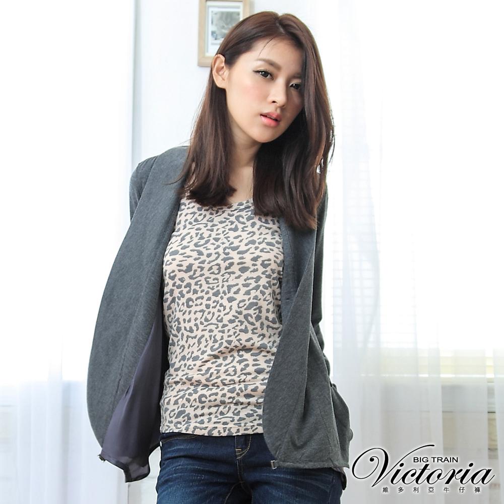 Victoria 休閒西裝外套-女-深灰