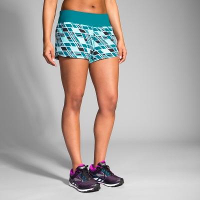 BROOKS 女 Chaser 追避者 3吋慢跑短褲海波藍綠(221254381)