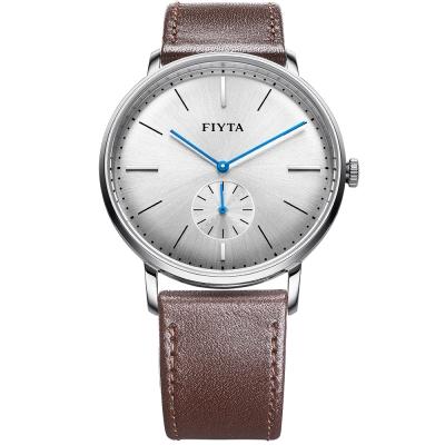 FIYTA飛亞達 卓雅系列復古造型石英錶款(WG800003.WWR)-灰色/42mm