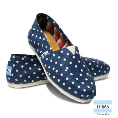 TOMS 經典點點懶人鞋-女款(藍)