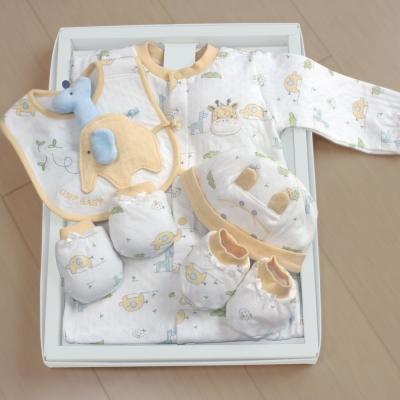 GMP-BABY台灣製象鹿兩用兔裝-彌月禮盒1組