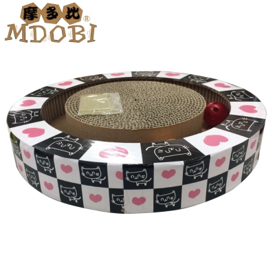 MDOBI摩多比-貓丸家 瓦楞紙 貓咪玩具盒-撲克貓咪旋轉盤