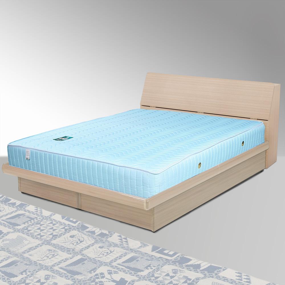 Homelike 諾雅6尺掀床組+獨立筒床墊-雙人加大(二色任選)
