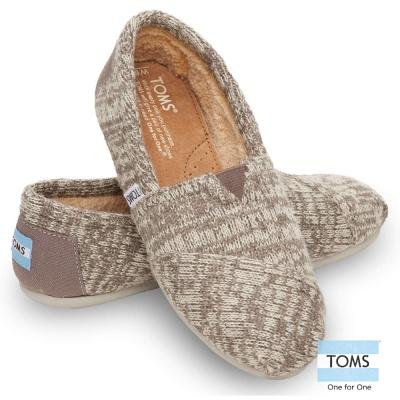 TOMS 經典針織懶人鞋 -女款(灰)