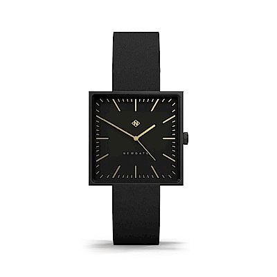 Newgate-CUBELINE-典雅黑-義大利皮革錶帶-35mm