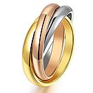 iSFairytale伊飾童話 三色纏繞 多環鈦鋼戒指