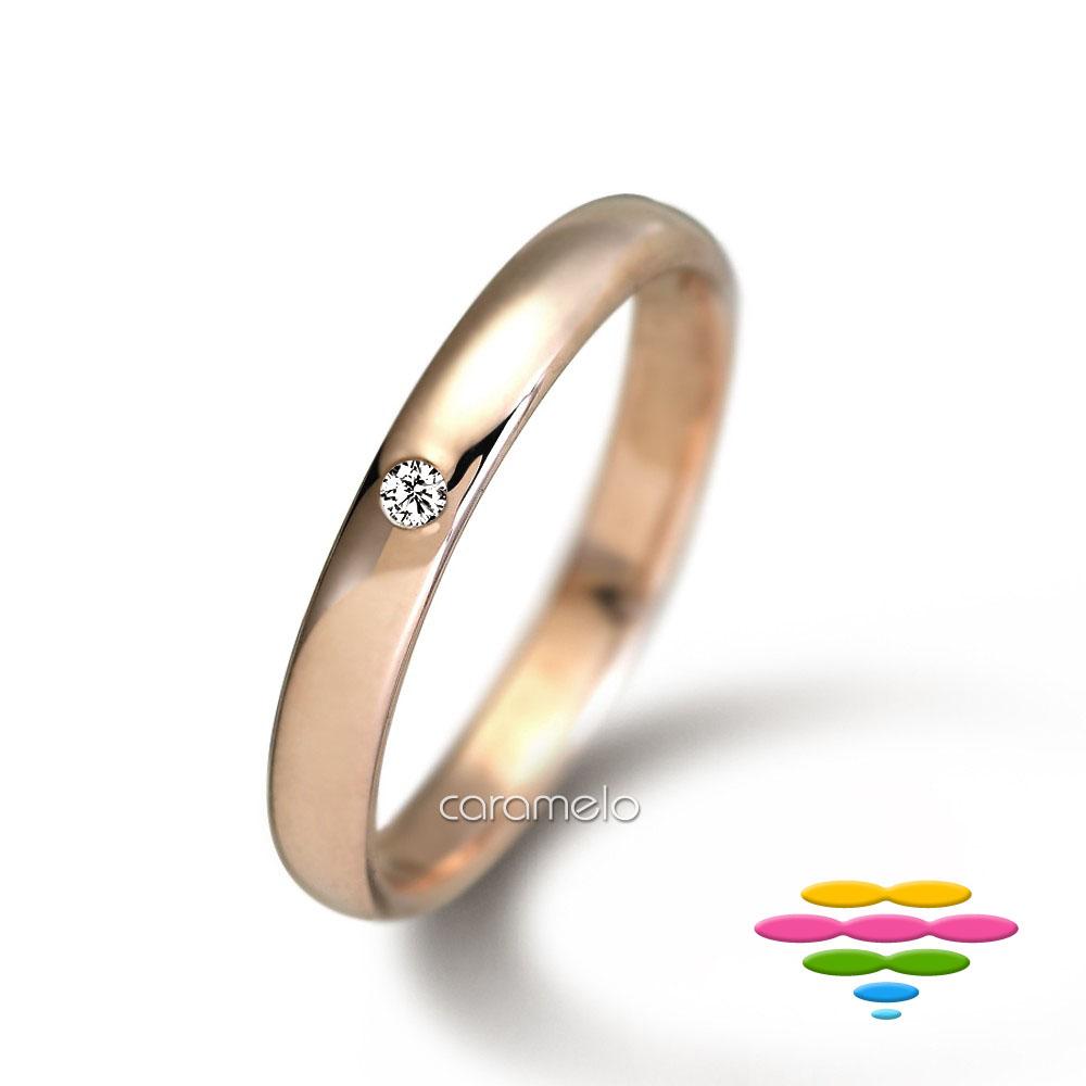 彩糖鑽工坊 玫瑰金 鑽戒(寬3mm) 幸褔指輪系列