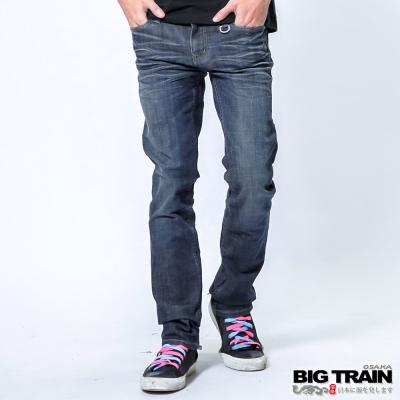 BIG TRAIN 惡童彈性窄直筒-男-深藍