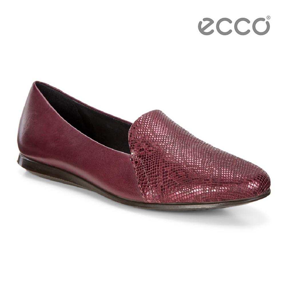 ECCO TOUCH BALLERINA 2.0 氣質金屬壓紋娃娃鞋-紅
