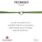 Dogeared Friendship 銀色愛心手鍊 迷你墜 亮綠X軍綠 防水繩衝浪手鍊
