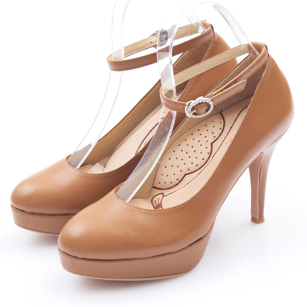 G.Ms.好穿進化-MIT牛皮2way厚底高跟鞋-霧駝