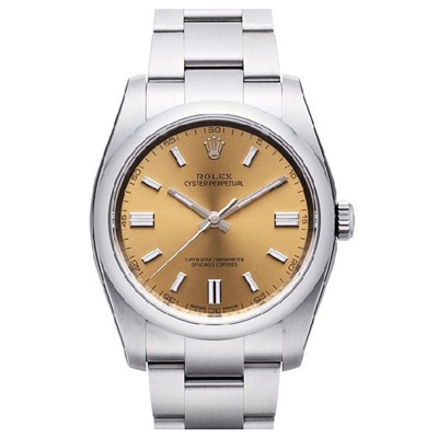ROLEX 勞力士 Oyster 116000 萬年曆蠔式恆動腕錶-葡萄金/36mm