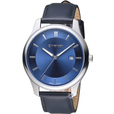 WENGER City系列 經典簡約紳士腕錶( 01.1441.118)43mm