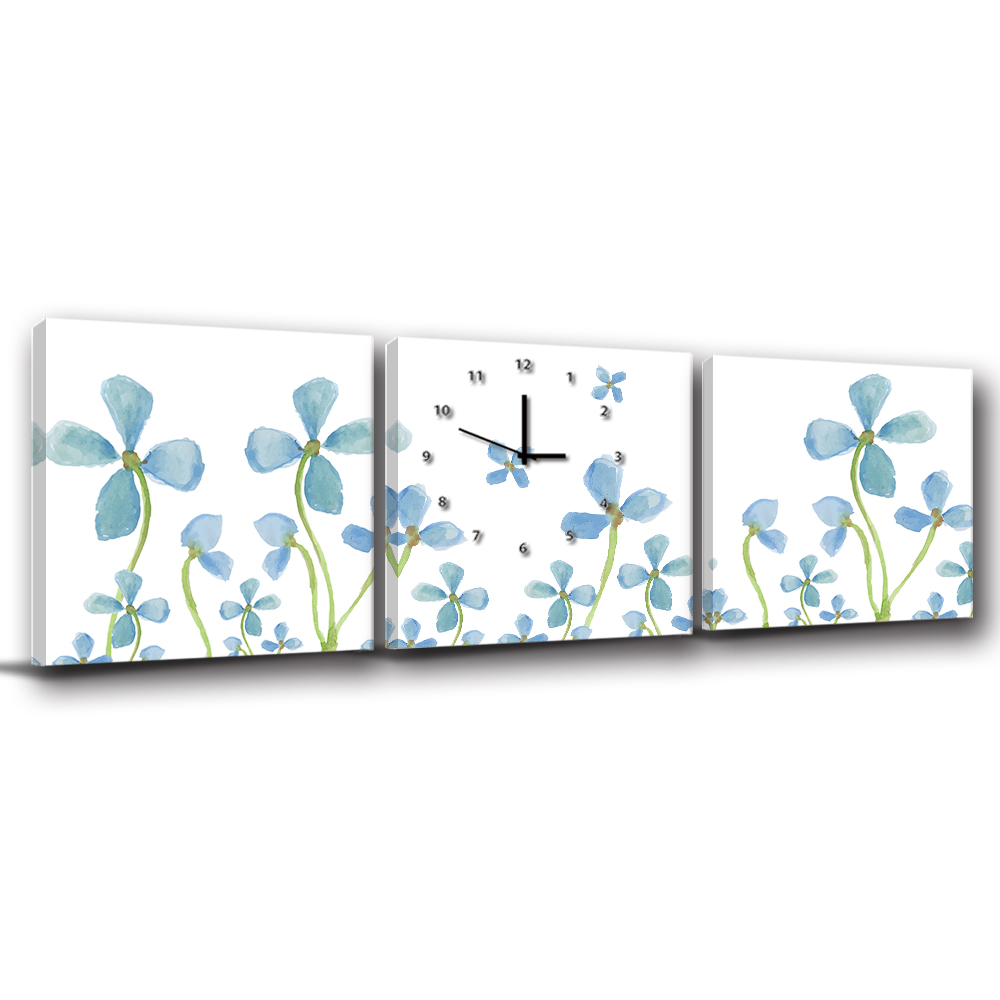 24mama掛畫-三聯客製化掛飾壁鐘時鐘畫框無框畫藝術掛畫-小蘭卿卿-50x50cm