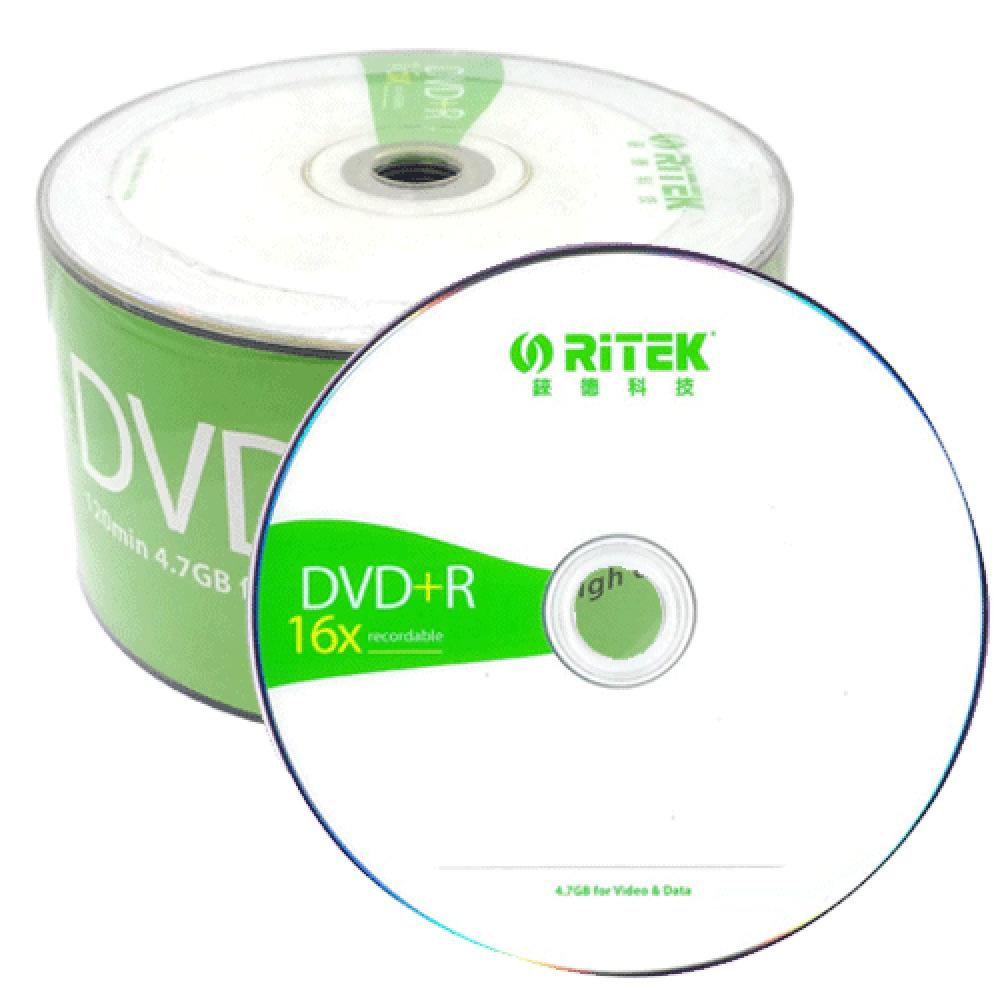 RITEK 16X DVD+R?簡約版?50片 布丁桶